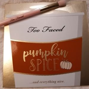 Too Faced Pumpkin Spice Palette and Brush NEW
